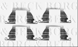 Borg & Beck BBK1569 - Piederumu komplekts, Disku bremžu uzlikas interparts.lv
