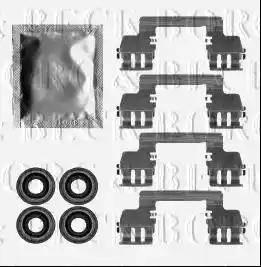 Borg & Beck BBK1567 - Piederumu komplekts, Disku bremžu uzlikas interparts.lv
