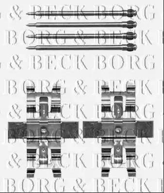 Borg & Beck BBK1500 - Piederumu komplekts, Disku bremžu uzlikas interparts.lv
