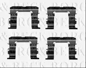 Borg & Beck BBK1582 - Piederumu komplekts, Disku bremžu uzlikas interparts.lv