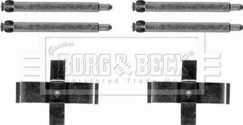 Borg & Beck BBK1619 - Piederumu komplekts, Disku bremžu uzlikas interparts.lv