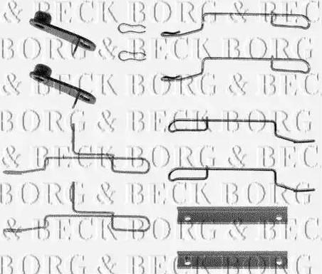 Borg & Beck BBK1020 - Piederumu komplekts, Disku bremžu uzlikas interparts.lv