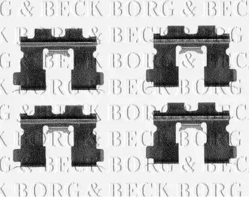 Borg & Beck BBK1149 - Piederumu komplekts, Disku bremžu uzlikas interparts.lv