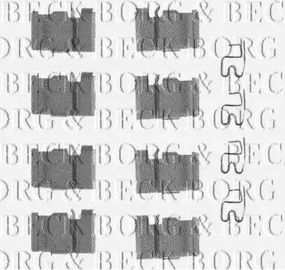 Borg & Beck BBK1165 - Piederumu komplekts, Disku bremžu uzlikas interparts.lv