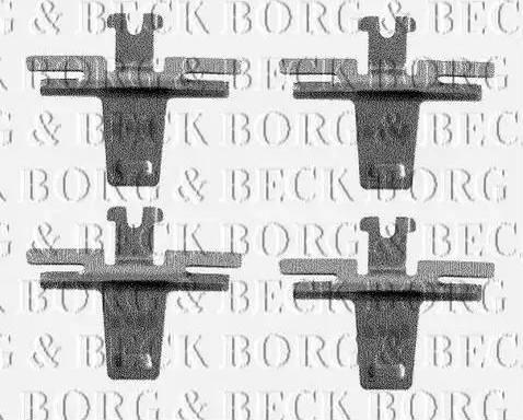 Borg & Beck BBK1183 - Piederumu komplekts, Disku bremžu uzlikas interparts.lv