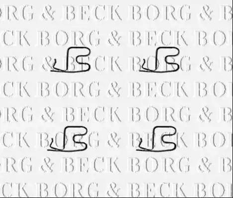 Borg & Beck BBK1391 - Piederumu komplekts, Disku bremžu uzlikas interparts.lv