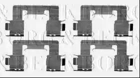 Borg & Beck BBK1346 - Piederumu komplekts, Disku bremžu uzlikas interparts.lv