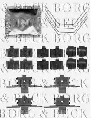 Borg & Beck BBK1341 - Piederumu komplekts, Disku bremžu uzlikas interparts.lv