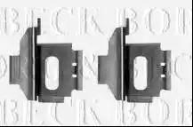 Borg & Beck BBK1348 - Piederumu komplekts, Disku bremžu uzlikas interparts.lv