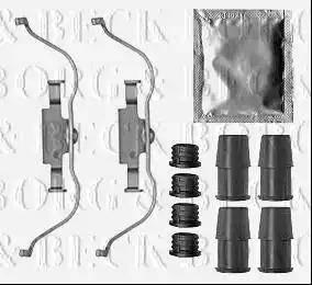 Borg & Beck BBK1352 - Piederumu komplekts, Disku bremžu uzlikas interparts.lv