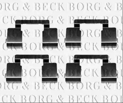 Borg & Beck BBK1371 - Piederumu komplekts, Disku bremžu uzlikas interparts.lv