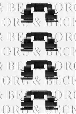 Borg & Beck BBK1298 - Piederumu komplekts, Disku bremžu uzlikas interparts.lv