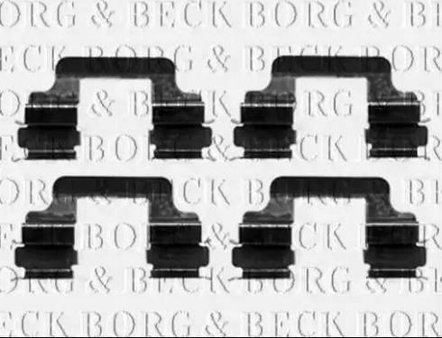 Borg & Beck BBK1241 - Piederumu komplekts, Disku bremžu uzlikas interparts.lv