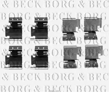 Borg & Beck BBK1209 - Piederumu komplekts, Disku bremžu uzlikas interparts.lv