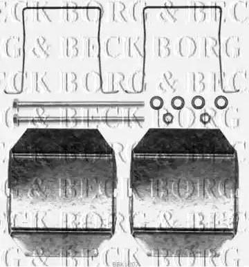 Borg & Beck BBK1207 - Piederumu komplekts, Disku bremžu uzlikas interparts.lv