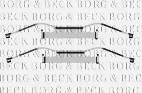 Borg & Beck BBK1280 - Piederumu komplekts, Disku bremžu uzlikas interparts.lv