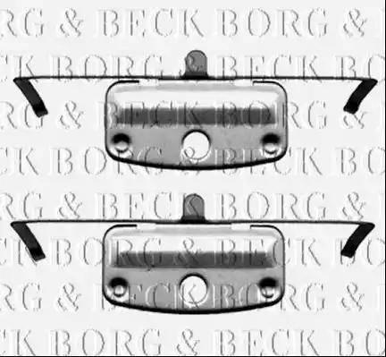 Borg & Beck BBK1236 - Piederumu komplekts, Disku bremžu uzlikas interparts.lv