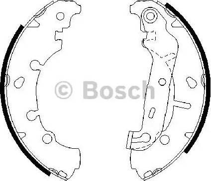 BOSCH 0 986 487 599 - Bremžu komplekts, trumuļa bremzes interparts.lv