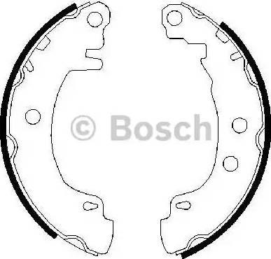 BOSCH 0 986 487 550 - Bremžu komplekts, trumuļa bremzes interparts.lv