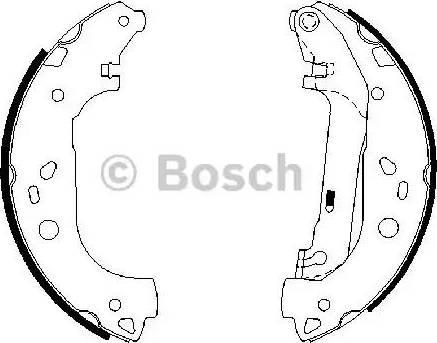 BOSCH 0 986 487 667 - Bremžu komplekts, trumuļa bremzes interparts.lv