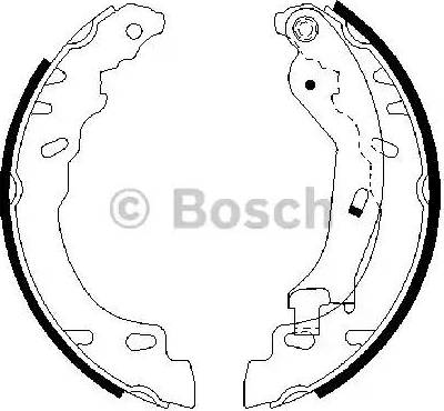 BOSCH 0 986 487 704 - Bremžu komplekts, trumuļa bremzes interparts.lv