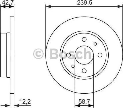 BOSCH 0 986 479 905 - Bremžu diski interparts.lv