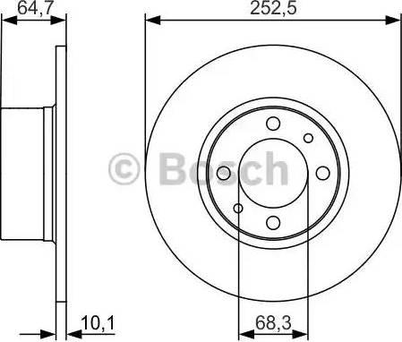 BOSCH 0 986 479 988 - Bremžu diski interparts.lv