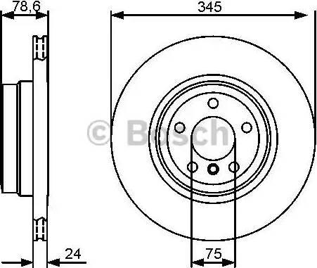 BOSCH 0 986 479 443 - Bremžu diski interparts.lv