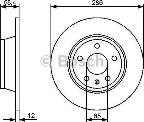 BOSCH 0 986 479 465 - Bremžu diski interparts.lv