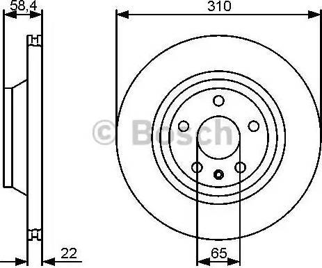 BOSCH 0 986 479 466 - Bremžu diski interparts.lv