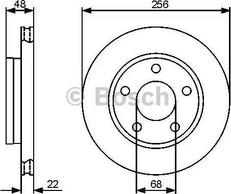 BOSCH 0 986 479 463 - Bremžu diski interparts.lv