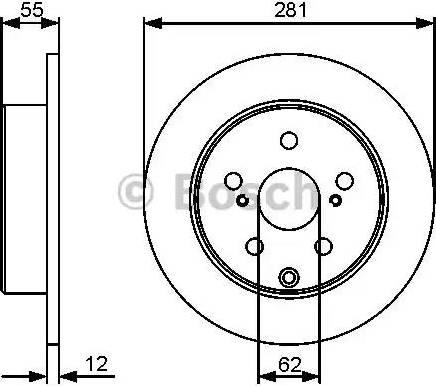 BOSCH 0 986 479 419 - Bremžu diski interparts.lv