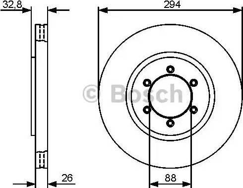 BOSCH 0 986 479 416 - Bremžu diski interparts.lv