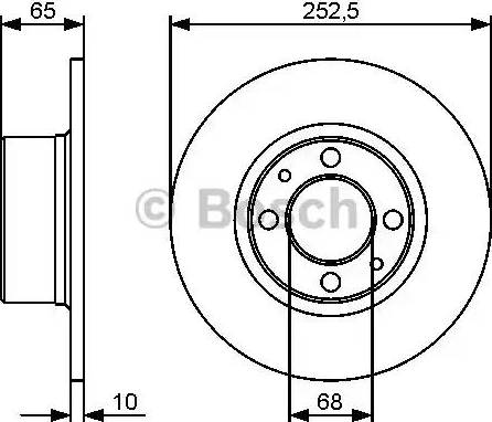 BOSCH 0 986 479 435 - Bremžu diski interparts.lv