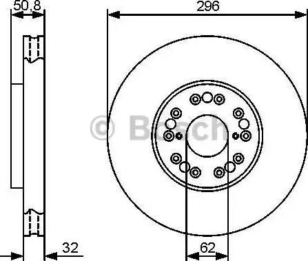 BOSCH 0 986 479 429 - Bremžu diski interparts.lv