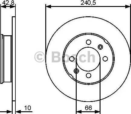 BOSCH 0 986 479 478 - Bremžu diski interparts.lv