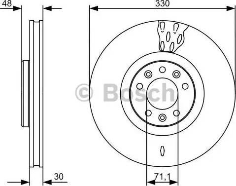 BOSCH 0 986 479 529 - Bremžu diski interparts.lv