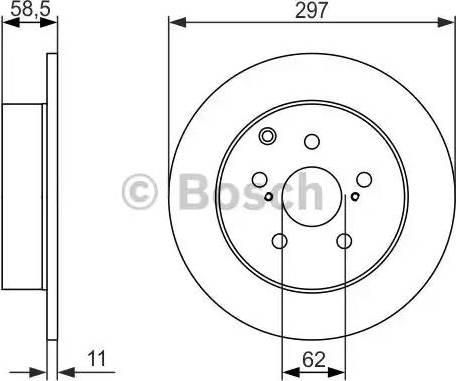 BOSCH 0 986 479 574 - Bremžu diski interparts.lv