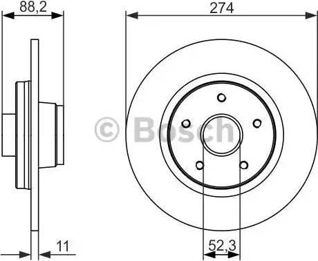 BOSCH 0 986 479 695 - Bremžu diski interparts.lv