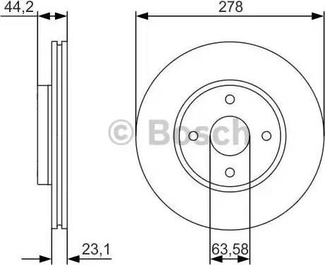 BOSCH 0 986 479 659 - Bremžu diski interparts.lv