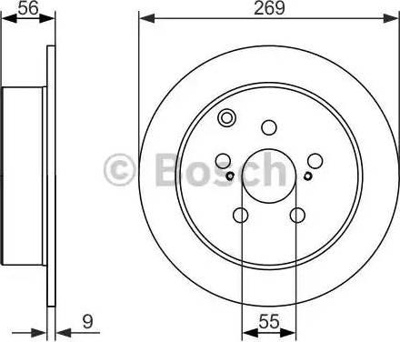 BOSCH 0 986 479 658 - Bremžu diski interparts.lv