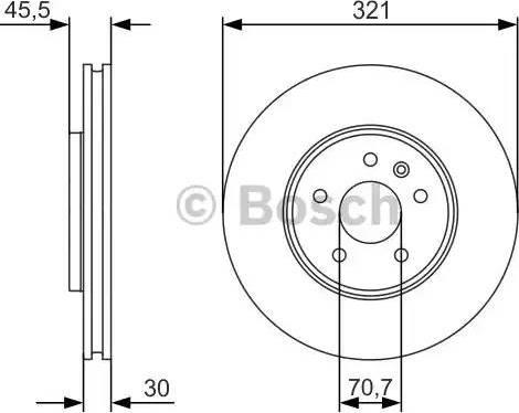 BOSCH 0 986 479 667 - Bremžu diski interparts.lv