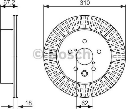 BOSCH 0 986 479 615 - Bremžu diski interparts.lv