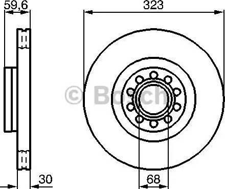 BOSCH 0 986 479 060 - Bremžu diski interparts.lv