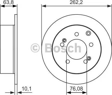 BOSCH 0 986 479 061 - Bremžu diski interparts.lv