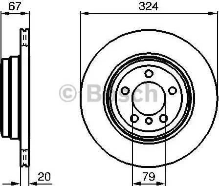 BOSCH 0 986 479 004 - Bremžu diski interparts.lv