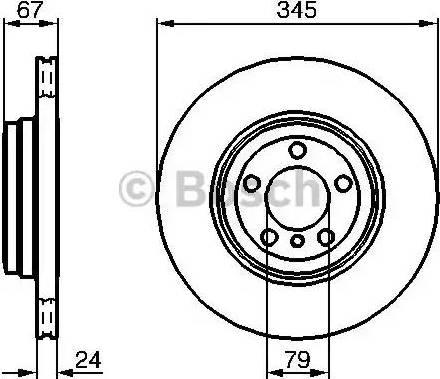 BOSCH 0 986 479 005 - Bremžu diski interparts.lv