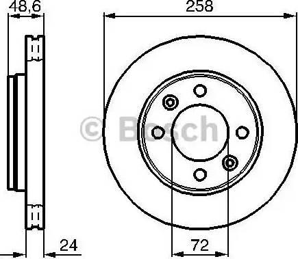 BOSCH 0 986 479 008 - Bremžu diski interparts.lv