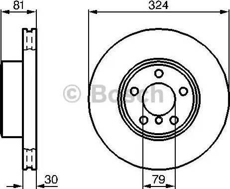 BOSCH 0 986 479 002 - Bremžu diski interparts.lv