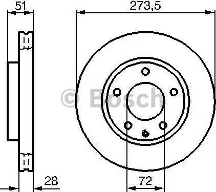 BOSCH 0 986 479 016 - Bremžu diski interparts.lv